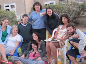 Lotan participants relaxing at the end of the day.