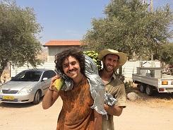Kibbutz Volunteers posing together.